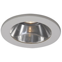 WAC Lighting 4in Shower Light Flat Glass C 35Deg Adj in White HR-D418-S-WT