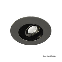 WAC Lighting LEDme Mini Recessed Downlights - Open Reflector Round Trim Warm White in Gun Metal HR-LED212E-27-GM
