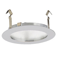 WAC Lighting Led 4In Shower Round Trim in White HR-LED431-WT