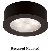 WAC Lighting HR-LED87-BK Undercabinet Lighting LED Black Button Light in 3000K