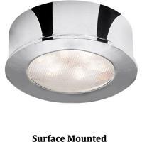 WAC Lighting HR-LED87-CH Undercabinet Lighting LED Chrome Button Light in 3000K