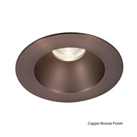 Tesla Recessed Lighting Luxeon LXS8 LED Semi-Specular clear/Copper Bronze Recessed Trim and Socket