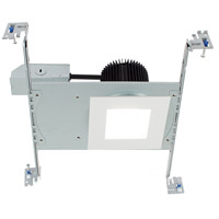 WAC Lighting HR3S-S30F-WT Summit LED White Recessed Downlight Kit in Square, Non-IC Airtight Remodel