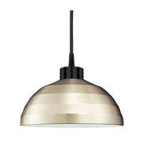 Cosmopolitan 1 Light 12 inch Black Pendant Ceiling Light in 100, Brushed Nickel, H Track