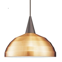 WAC Lighting HTK-F4-404CO/BN Cosmopolitan 1 Light 12 inch Brushed Nickel Pendant Ceiling Light in 100 Copper H Track