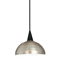 Cosmopolitan 1 Light 12 inch Black Pendant Ceiling Light in 100, Brushed Nickel, J Track
