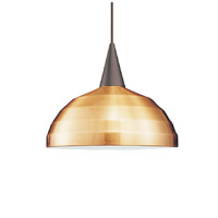 Cosmopolitan 1 Light 12 inch Brushed Nickel Pendant Ceiling Light in 100, Copper, J Track