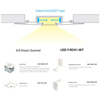 WAC Lighting LED-T-RCH1-WT InvisiLED Recessed Channels White 4 inch InvisiLED Tape Light alternative photo thumbnail