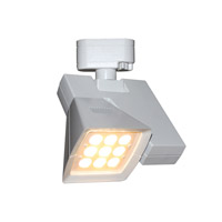 WAC Lighting Logos H-Track LED Track Head (2700K Flood) in White H-LED23F-27-WT