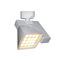 WAC Lighting Logos H-Track LED Track Head (2700K Flood) in White H-LED40F-27-WT