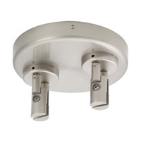 WAC Lighting Lv Monorail-Cls To Ceiling Pwr Feed-Dual in Brushed Nickel LM-DCPC-BN