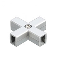 WAC Lighting Lv Monorail-X Connector in Brushed Nickel LM-XDEC-BN