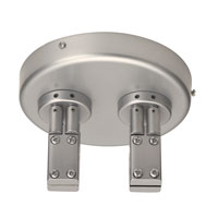 WAC Lighting 2-Circuit Lv Monorail Dual Power Feed in Brushed Nickel LM2-DCPC-BN