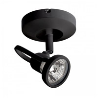 Display Lighting Black 50 watt 1 Light Surface Mount Directional in Halogen