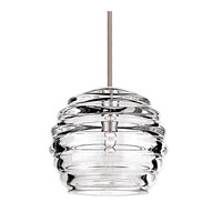 Cosmopolitan 1 Light 6 inch Brushed Nickel Pendant Ceiling Light in Canopy Mount MP