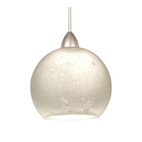 Cosmopolitan LED 4 inch Brushed Nickel Pendant Ceiling Light in Chrome, Canopy Mount MP