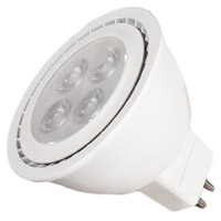 Light Bulbs GU5.3 MR16 6.4 watt LED Bulb in White