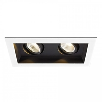 Recessed Lighting LED Black Recessed Housing and Trim in 85, Non-IC Airtight New Construction