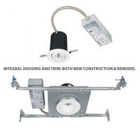 WAC Lighting R2BSA-S930-BN Oculux LED Module Brushed Nickel Adjustable Trim and Housing alternative photo thumbnail