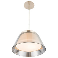 WAC Lighting PD-12015-BN Chic LED 15 inch Brushed Nickel Pendant Ceiling Light dweLED