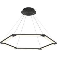 WAC Lighting PD-14032-BK Lune LED 32 inch Black Pendant Ceiling Light dweLED