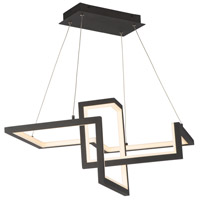 WAC Lighting PD-17023-BK Minecraft LED 23 inch Black Pendant Ceiling Light dweLED