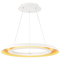 Omega LED 28 inch White Gold Ribbed Pendant Ceiling Light