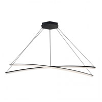 WAC Lighting PD-27802-BK Radius LED 55 inch Black Pendant Ceiling Light