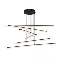 WAC Lighting PD-29806-BK Stack LED 48 inch Black Pendant Ceiling Light