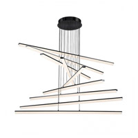 WAC Lighting PD-29809-BK Stack LED 48 inch Black Pendant Ceiling Light