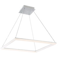 WAC Lighting PD-29828-AL Frame LED 28 inch Brushed Aluminum Pendant Ceiling Light