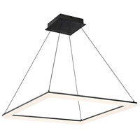 WAC Lighting PD-29828-BK Frame LED 28 inch Black Pendant Ceiling Light