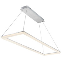 WAC Lighting PD-29858-AL Frame LED 16 inch Brushed Aluminum Pendant Ceiling Light dweLED