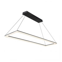 WAC Lighting PD-29858-BK Frame LED 16 inch Black Pendant Ceiling Light in Architectural White, dweLED