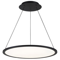 WAC Lighting PD-31727-BK Illusion LED 27 inch Black Pendant Ceiling Light in 2700K dweLED