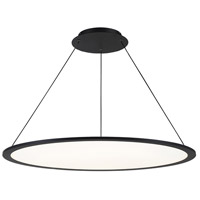 WAC Lighting PD-31735-BK Illusion LED 35 inch Black Pendant Ceiling Light, dweLED