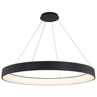 WAC Lighting PD-33753-BK Corso LED 53 inch Black Pendant Ceiling Light in 53in, dweLED
