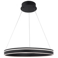 WAC Lighting PD-40901-BK Voyager LED 24 inch Black Pendant Ceiling Light in 1 dweLED