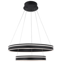 WAC Lighting PD-40902-BK Voyager LED 24 inch Black Pendant Ceiling Light, dweLED