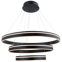 WAC Lighting PD-40903-BK Voyager LED 32 inch Black Pendant Ceiling Light, dweLED