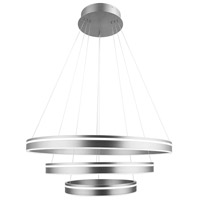 WAC Lighting PD-40903-SN Voyager LED 32 inch Satin Nickel Pendant Ceiling Light, dweLED