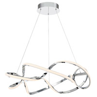 WAC Lighting PD-47828-CH Interlace LED 28 inch Chrome Pendant Ceiling Light