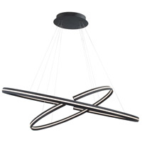 WAC Lighting PD-48948-BK Orbit LED 24 inch Black Pendant Ceiling Light in 48in dweLED