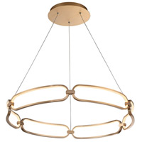 WAC Lighting PD-54932-SG Charmed LED 32 inch Soft Gold Chandelier Ceiling Light dweLED