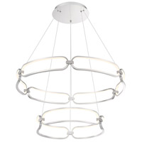 WAC Lighting PD-54934-BN Charmed LED 32 inch Brushed Nickel Chandelier Ceiling Light, dweLED