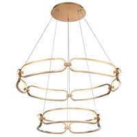 WAC Lighting PD-54934-SG Charmed LED 32 inch Soft Gold Chandelier Ceiling Light, dweLED