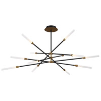 WAC Lighting PD-55912-BK/AB Houdini LED 47 inch Black Aged Brass Chandelier Ceiling Light, dweLED