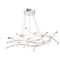 WAC Lighting PD-60944-CH Divergence LED 44 inch Chrome Chandelier Ceiling Light dweLED