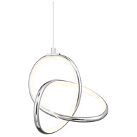 WAC Lighting PD-84907-CH Vornado LED 7 inch Chrome Mini Pendant Ceiling Light, dweLED