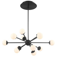 WAC Lighting PD-93834-BK Bossa Nova LED 30 inch Black Chandelier Ceiling Light in 34in dweLED